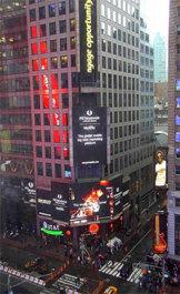亿起联品牌广告登陆纽约时代广场 全球化业务抢占欧美桥头