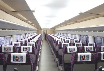 京沪线高铁车厢内头枕片